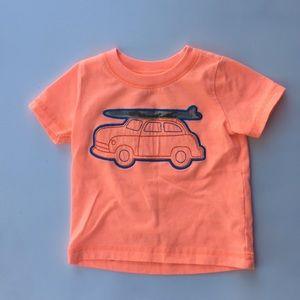 Neon Orange, Carter's t-shirt. Like new! Surf shrt